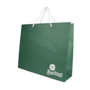 Pilsner Urquell bag for gifts big green
