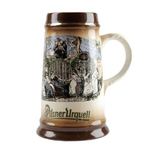 Tankard with historic Pilsner Urquell theme
