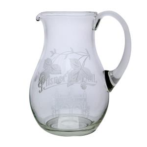 An engraved beer pitcher with hops - medium