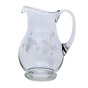 Engraved pitcher with hops - large