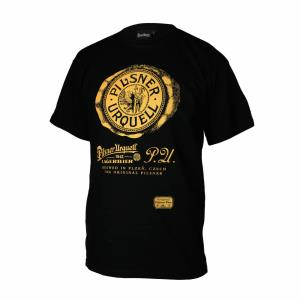 Pilsner Urquell retro T-shirt Black