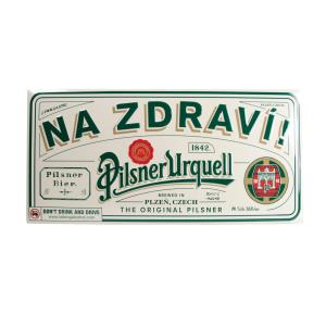 """Na zdraví"" [""Cheers""] metal sign - 3D"