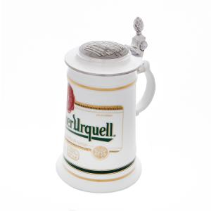 Tankard with a pewter lid logo Pilsner Urquell