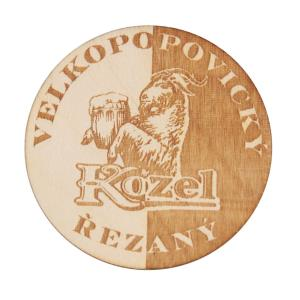 Wooden half-and-half Kozel plaque