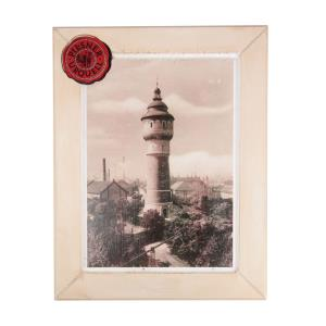 Wooden picture with water-tower