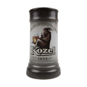 Two-tone Kozel beer mug