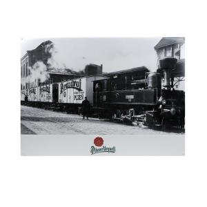 Tin Sign Pilsner Urquell retro train