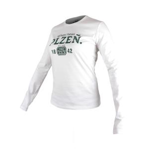Pilsner Urquell long-sleeved ladies' t-shirt - white