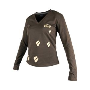 Women's T-shirt with long sleeves - brown