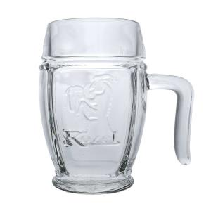 Kozel 0.3 L Horned Glass Mug