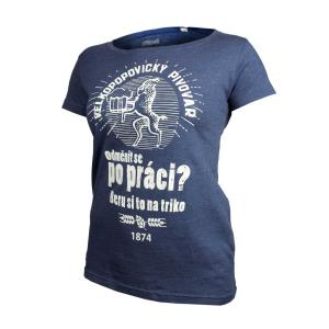 Ladies' Blue Kozel Reward T-Shirt with embroidery