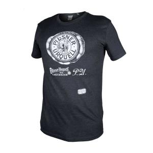 Men's Pilsner Urquell gray T-shirt with embroidery