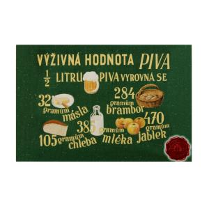 Wooden magnet Pilsner Urquell – Nutritional value 2