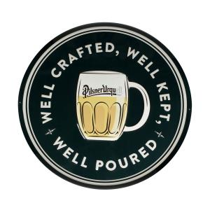Blechschild Well crafted Pilsner Urquel