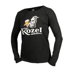 Women´s brown long-sleeved Kozel T-shirt