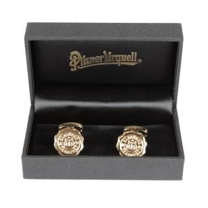 Pilsner Urquell gold-plated cufflinks