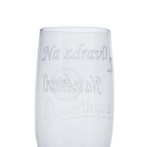 New Pilsner Urquell glass Goblet 0,4l with inscription