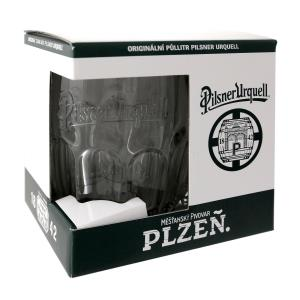 Pilsner Urquell 0.5l Beer Glass – The True Original in a Gift Box