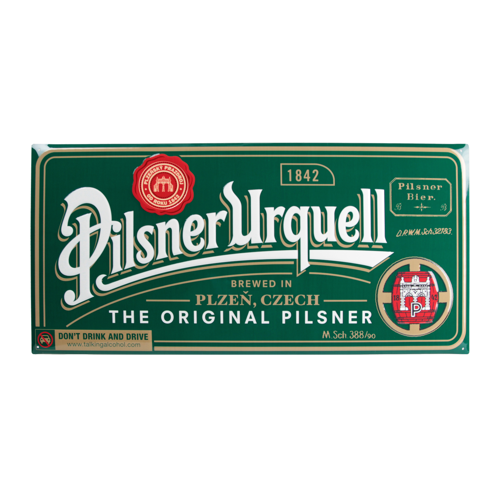 Original Pilsner metal sign - 3D