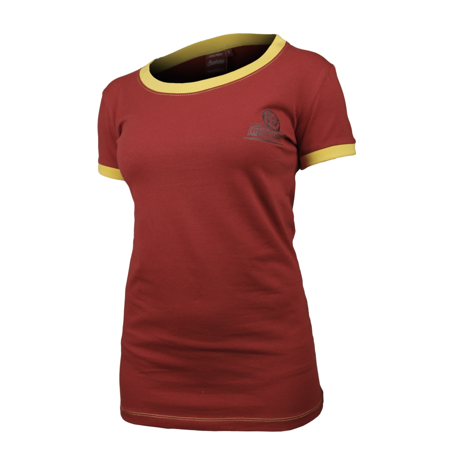 Gambrinus T-shirt ladies red with embroidery