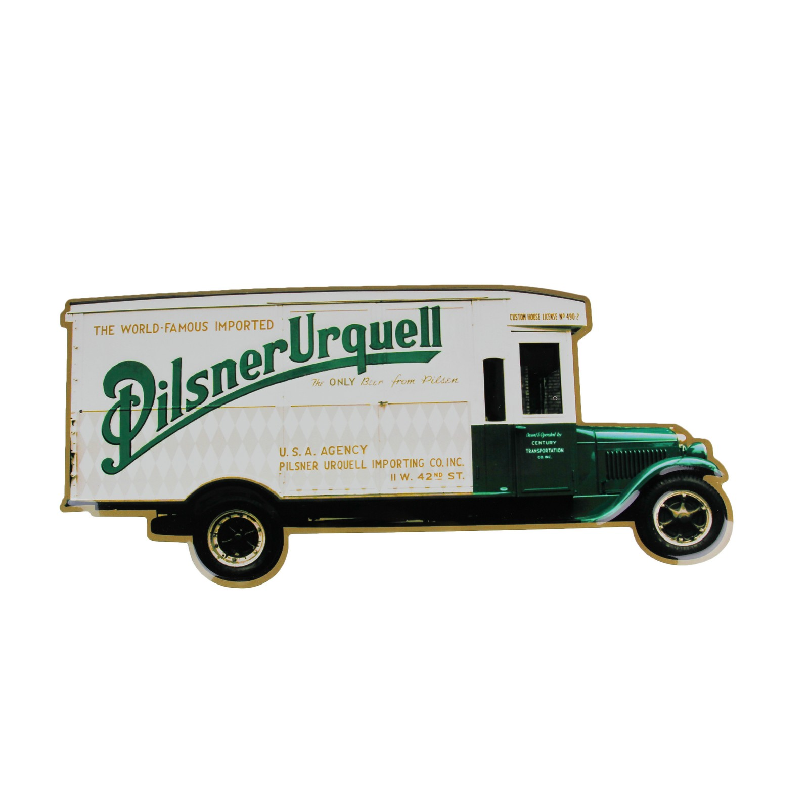Tin sign Pilsner Urquell truck