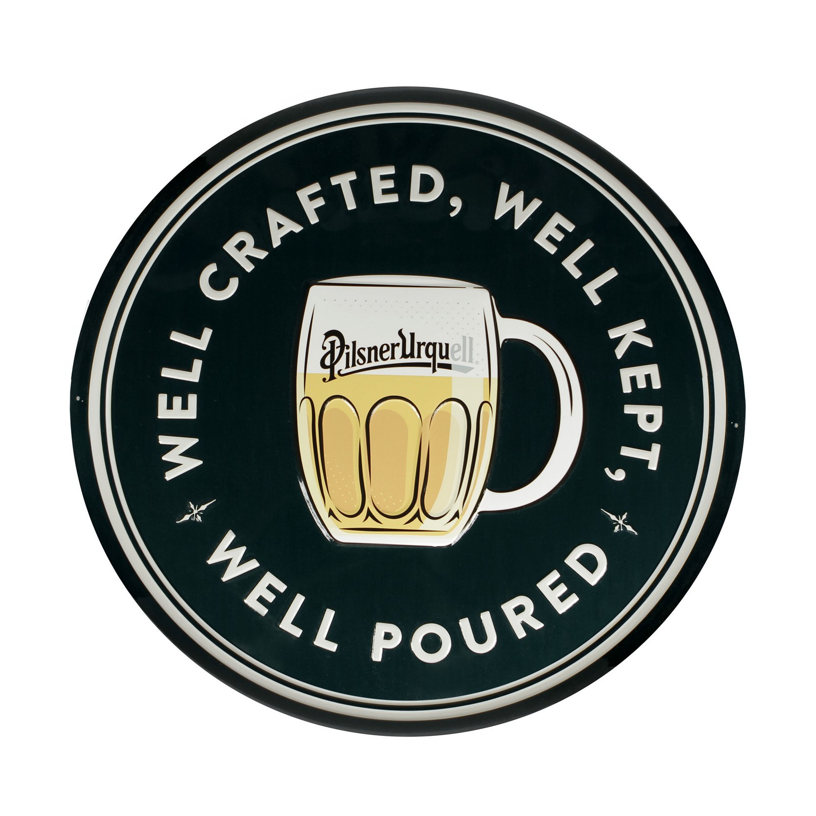Metal sign Well crafted Pilsner Urquell
