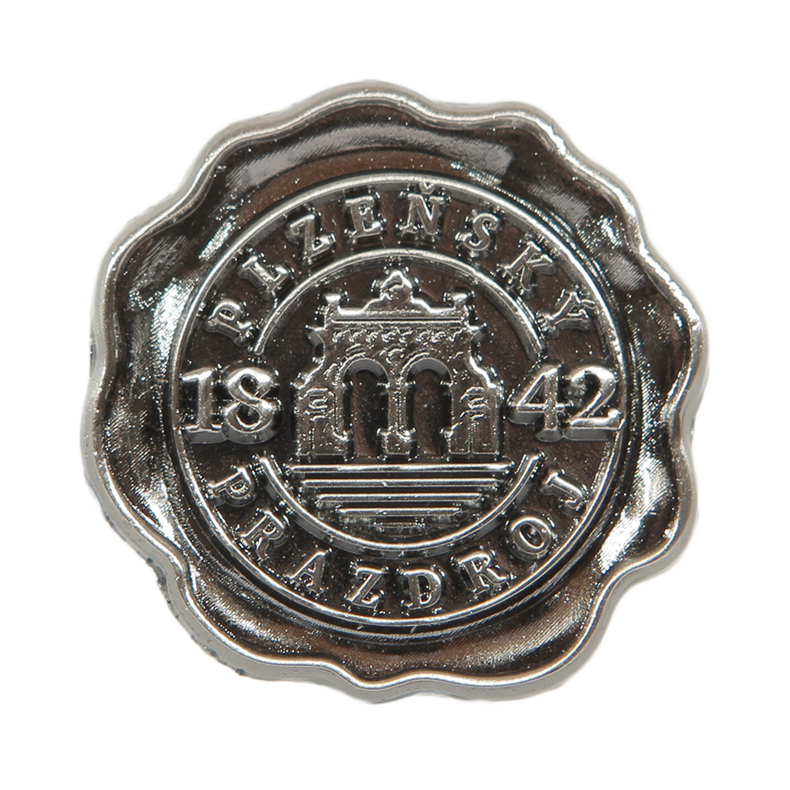 Pilsner Urquell Seal Badge Silver