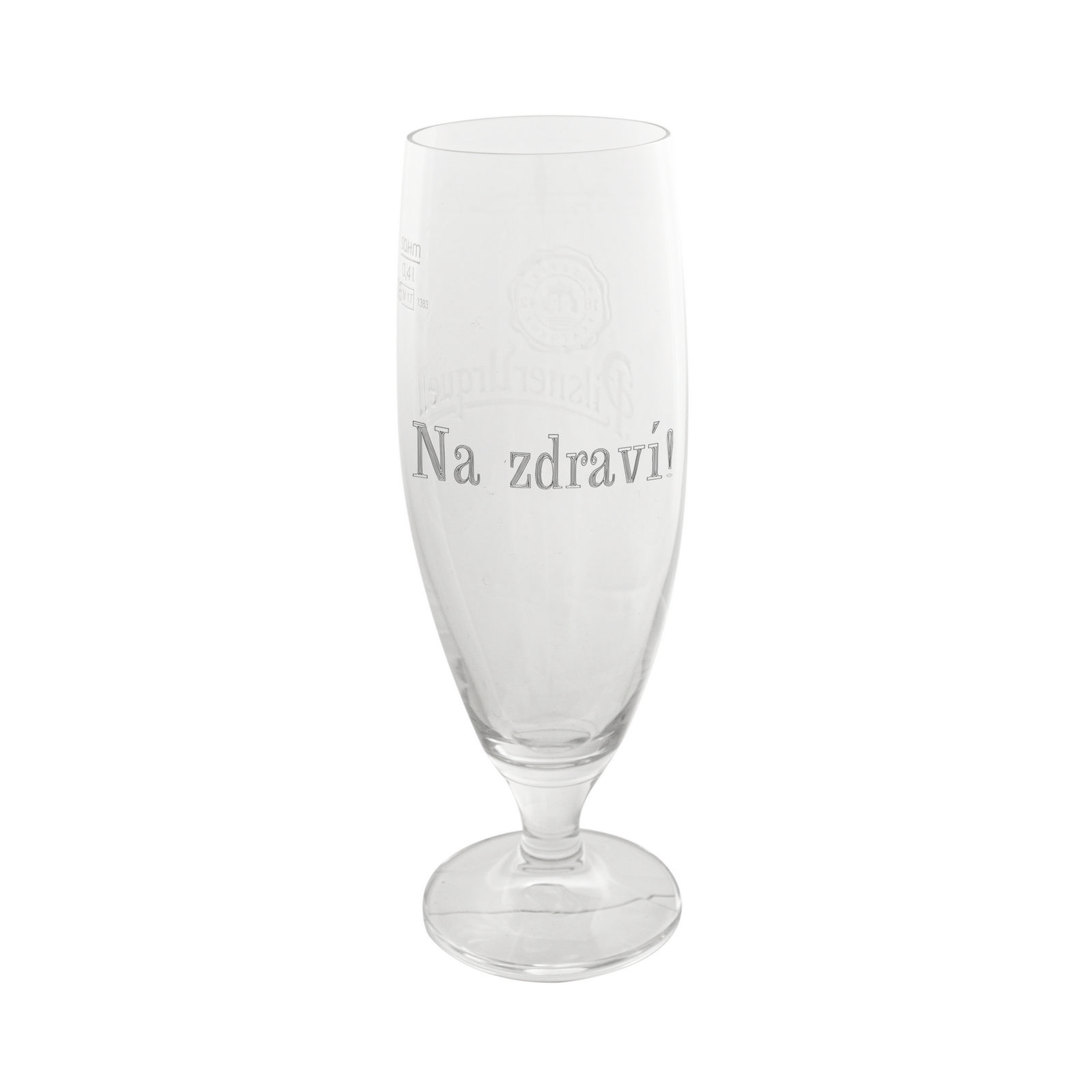 The Goblet Pilsner Urquell glass 0,3l with inscription