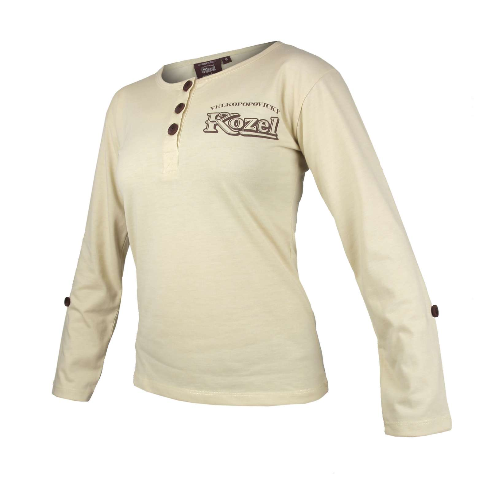 Ladies T-shirt Kozel button with embroidery